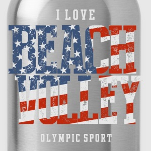 I Love Beach Volley USA T-Shirts - Water Bottle