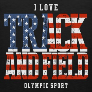 I Love Track and Field US T-Shirts - Men's Premium Tank