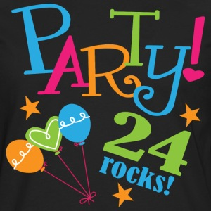 24th Birthday Party 24 T-Shirts - Men's Premium Long Sleeve T-Shirt