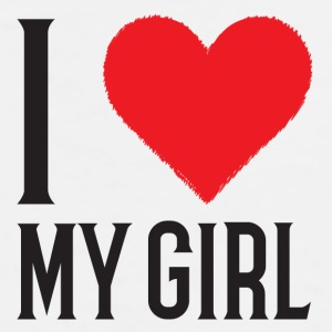 I Love My Girl Mug - Men's Premium T-Shirt