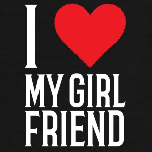 I Love My Girlfriend Mug - Men's Premium T-Shirt