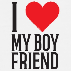 I Love My Boyfriend Mug - Men's Premium T-Shirt