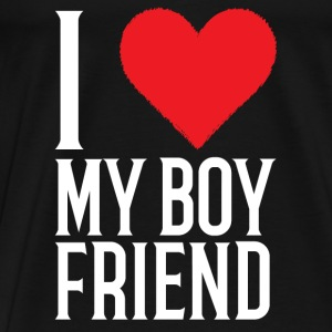 I Love My Boyfriend - Men's Premium T-Shirt