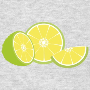 half of a lime Long Sleeve Shirts - Men's T-Shirt