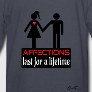 couples-affection-blk Hoodies - Kids' Long Sleeve T-Shirt