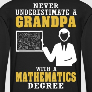 Mathematics Degree Grandpa - Men's Premium Long Sleeve T-Shirt