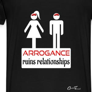 couples-arrogance-wht Hoodies - Men's Premium T-Shirt