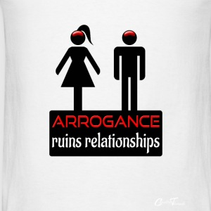 couples-arrogance-blk Tanks - Men's T-Shirt