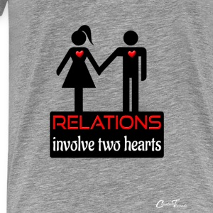 couples-relations-blk Tanks - Men's Premium T-Shirt