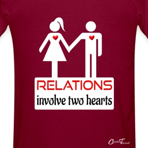 couples-relations-wht Hoodies - Men's T-Shirt