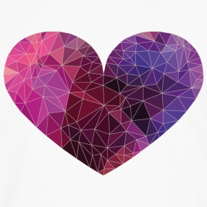 Polygon Heart Strokes Women's T-Shirts - Men's Premium Long Sleeve T-Shirt