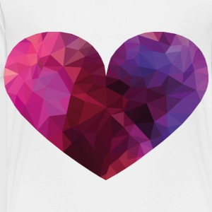 Polygon Heart Kids' Shirts - Toddler Premium T-Shirt