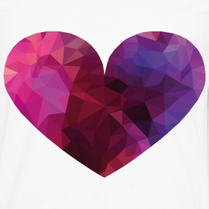 Polygon Heart Kids' Shirts - Men's Premium Long Sleeve T-Shirt