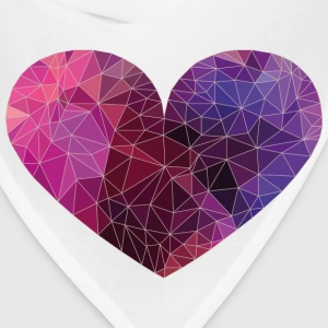 Polygon Heart Strokes Phone & Tablet Cases - Bandana
