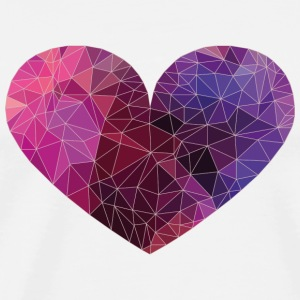 Polygon Heart Strokes Phone & Tablet Cases - Men's Premium T-Shirt