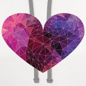 Polygon Heart Strokes T-Shirts - Contrast Hoodie