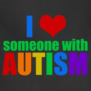 I Love Someone Autism - Adjustable Apron