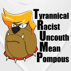 Funny Anti Trump Cartoon - Bandana