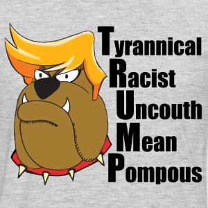 Funny Anti Trump Cartoon - Men's Premium Long Sleeve T-Shirt