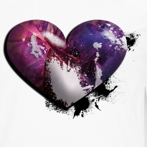 splatter heart Women's T-Shirts - Men's Premium Long Sleeve T-Shirt
