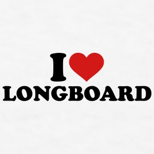 I love Longboard Mugs & Drinkware - Men's T-Shirt