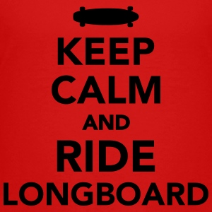 Keep calm and ride Longboard Kids' Shirts - Toddler Premium T-Shirt