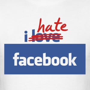 I Hate Facebook - Long Sleeve Tee - Men's T-Shirt