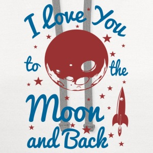 I Love You To The Moon Women's T-Shirts - Contrast Hoodie