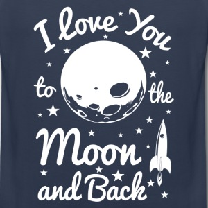 I Love You To The Moon T-Shirts - Men's Premium Tank