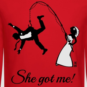 She Got Me! (Groom / Stag Party / Bachelor Party) T-Shirts - Crewneck Sweatshirt
