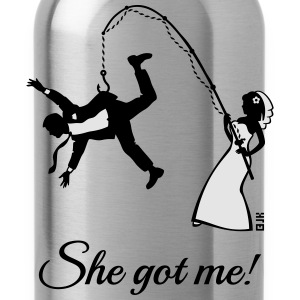 She Got Me! (Groom / Stag Party / Bachelor Party) Tank Tops - Water Bottle