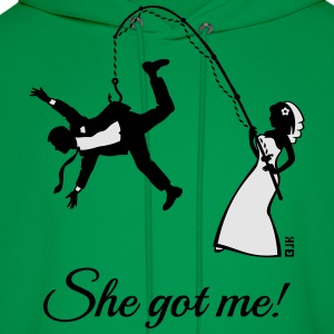 She Got Me! (Groom / Stag Party / Bachelor Party) T-Shirts - Men's Hoodie