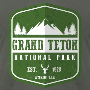 Grand Teton National Park Hoodies - Men's T-Shirt by American Apparel
