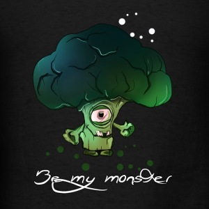 Cool Broccoli Monster - Men's T-Shirt