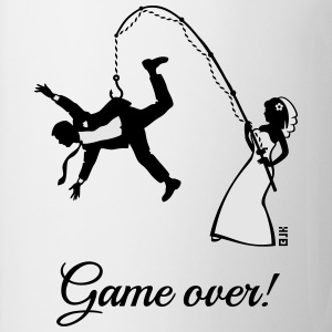 Game Over (Bride Fishing Husband) T-Shirts - Coffee/Tea Mug