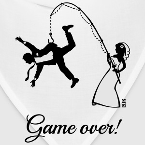 Game Over (Bride Fishing Husband) T-Shirts - Bandana