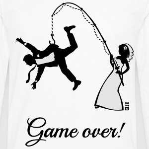 Game Over (Bride Fishing Husband) T-Shirts - Men's Premium Long Sleeve T-Shirt