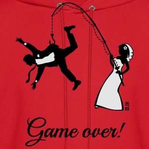 Game Over (Bride Fishing Husband) T-Shirts - Men's Hoodie