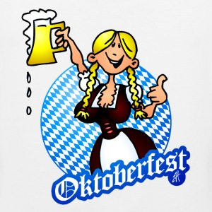 Oktoberfest - girl in a dirndl  - Men's Premium Tank