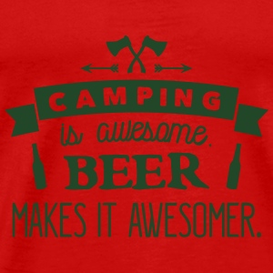camping is awesome beer makes it awesomer Tanks - Men's Premium T-Shirt