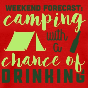 Camping with a chance of drinking Tank Tops - Men's Premium T-Shirt