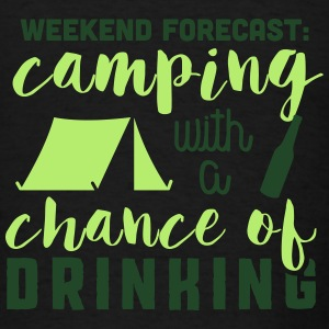 Camping with a chance of drinking Tanks - Men's T-Shirt
