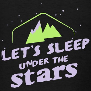 Camping: lets sleep under the stars Tanks - Men's T-Shirt