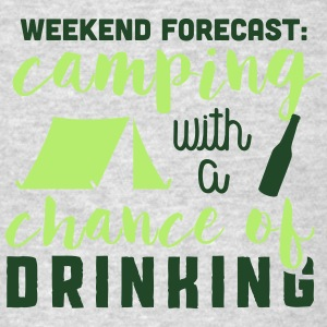 Camping with a chance of drinking Tank Tops - Men's T-Shirt