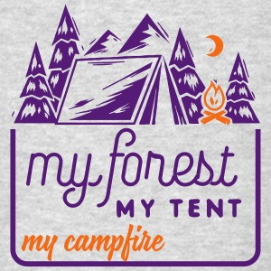 Camping: my forest my tent my campfire Tank Tops - Men's T-Shirt