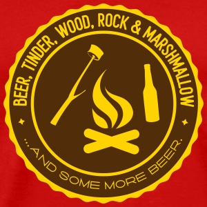 Camping beer tinder wood rock marshmallow Tank Tops - Men's Premium T-Shirt