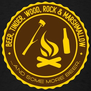 Camping beer tinder wood rock marshmallow Tank Tops - Men's T-Shirt