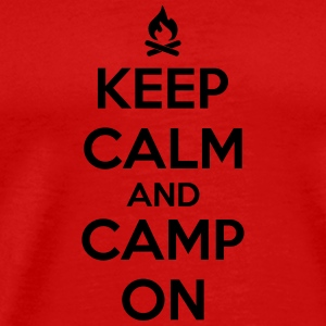 Camping: keep calm and camp on Tank Tops - Men's Premium T-Shirt