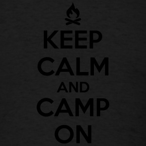 Camping: keep calm and camp on Tank Tops - Men's T-Shirt