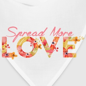 Girls Spread More Love Ruffle Tee - Bandana